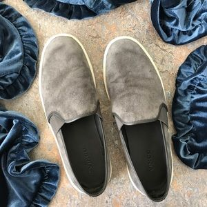 Shoes - Vince Gray Suede Blair Platforms Sneakers Shoes